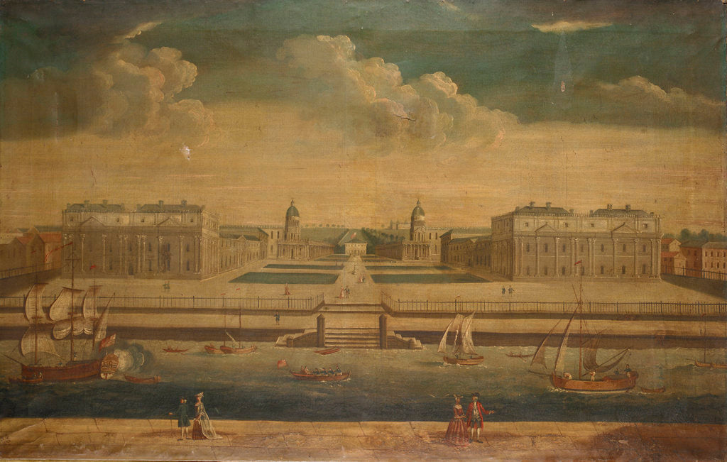 Detail of View of Greenwich by Monogrammist H.G.