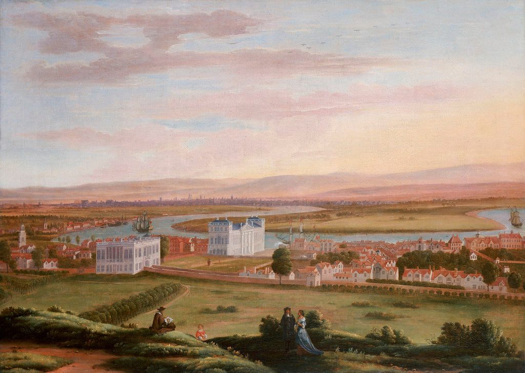 Detail of A view of Greenwich and the Queen's House from the South East, circa 1670 by Hendrick Danckerts