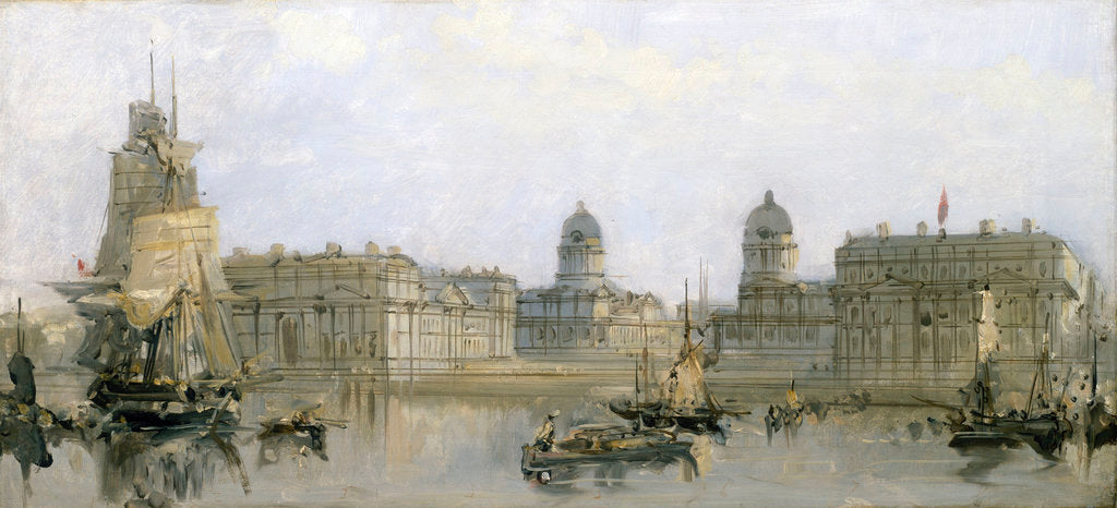 Greenwich Hospital from the Thames by David Roberts
