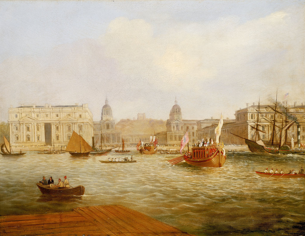 Detail of Shipping on the Thames by Greenwich Hospital, circa 1835 by unknown