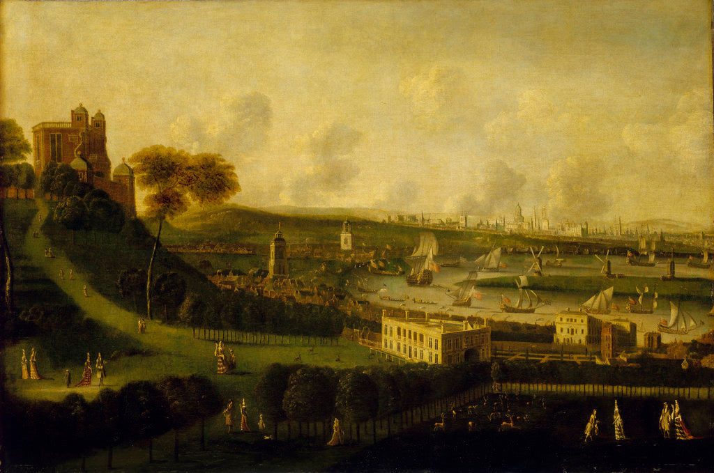 Detail of London and the River Thames from One Tree Hill, Greenwich Park by Jan Griffier