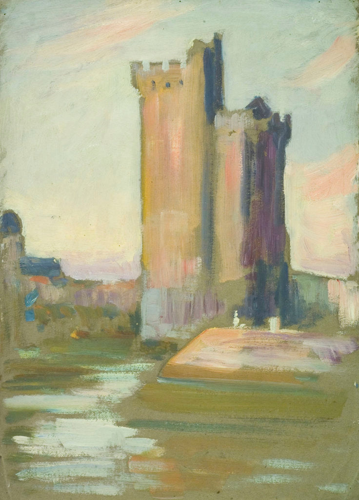 Detail of A fortified tower by John Everett