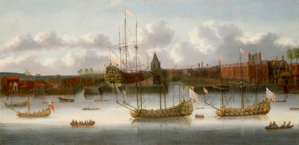 Detail of East India Company's yard at Deptford, circa 1660 by unknown