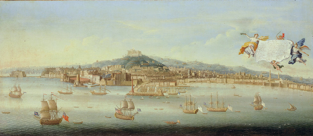 Detail of Panoramic View of the Bay of Naples by Gaspar Butler