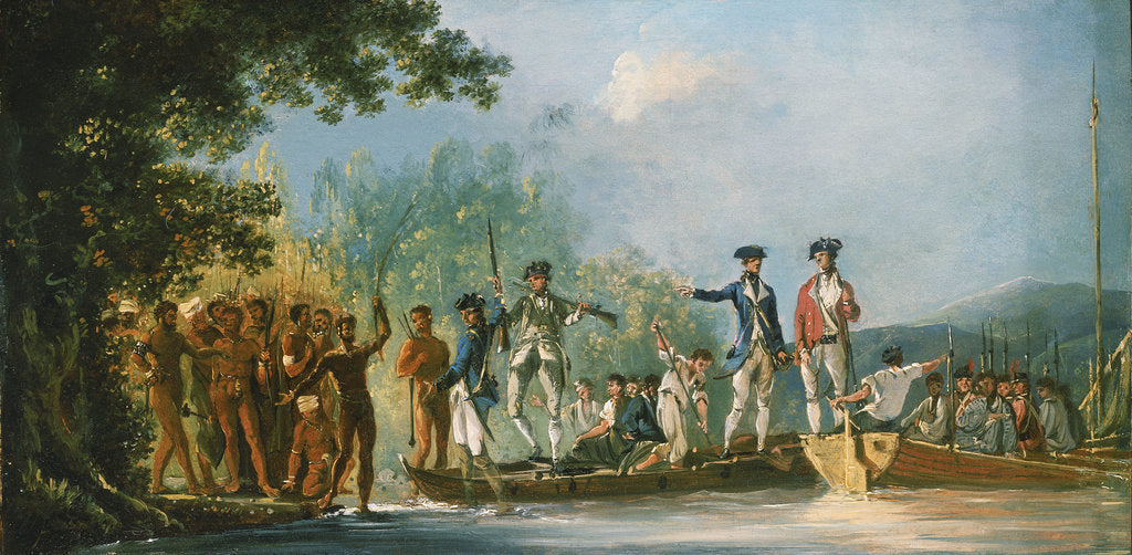Detail of Landing at Mallicolo, 1774 by William Hodges