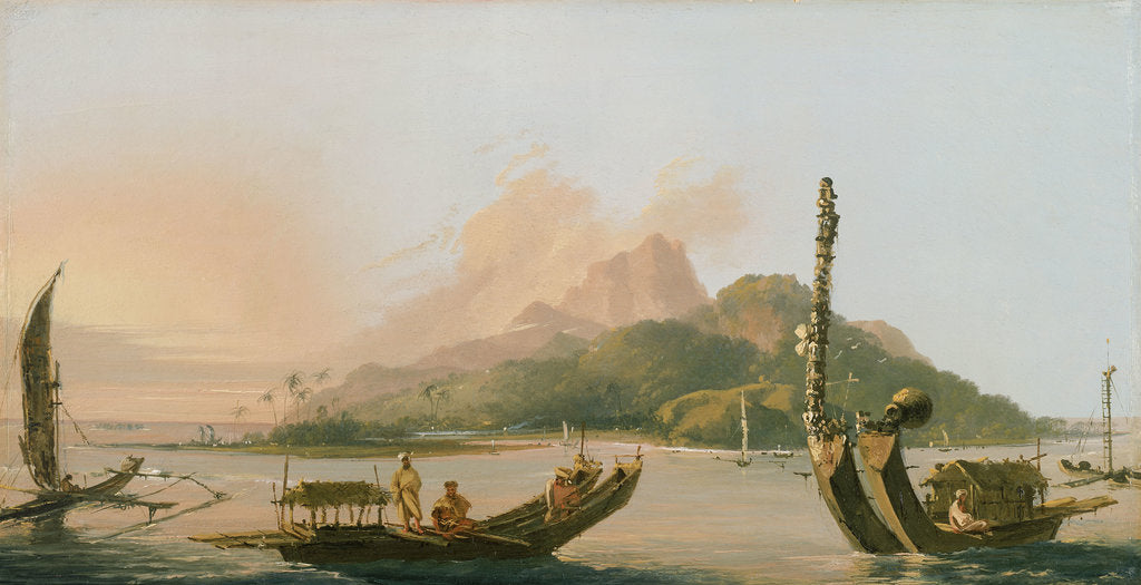 Detail of Tahiti: Bearing south east 1773 by William Hodges