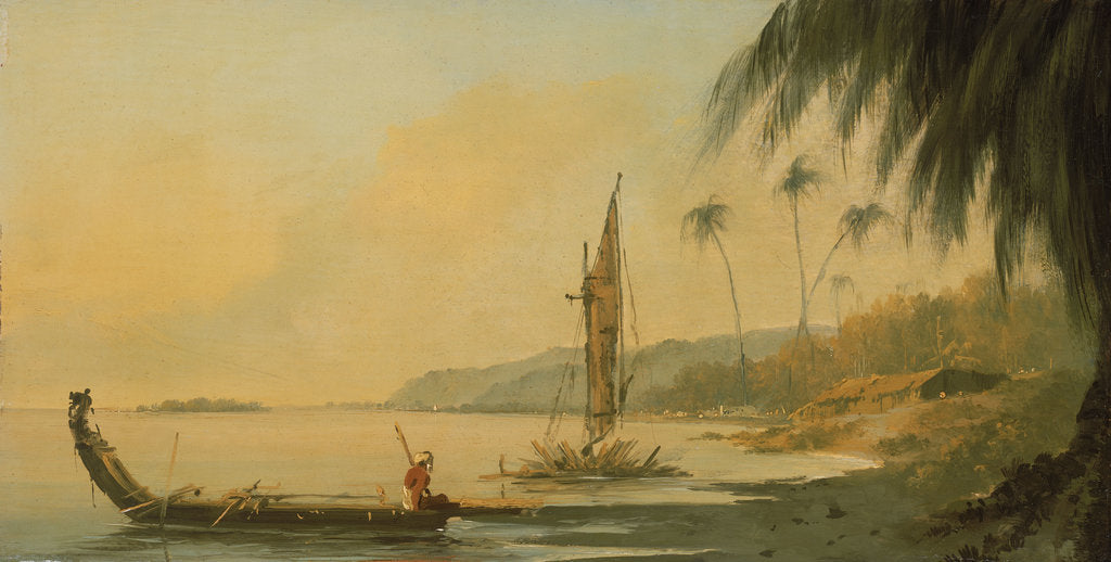 Detail of View from Point Venus, Island of Otaheite (Tahiti) by William Hodges