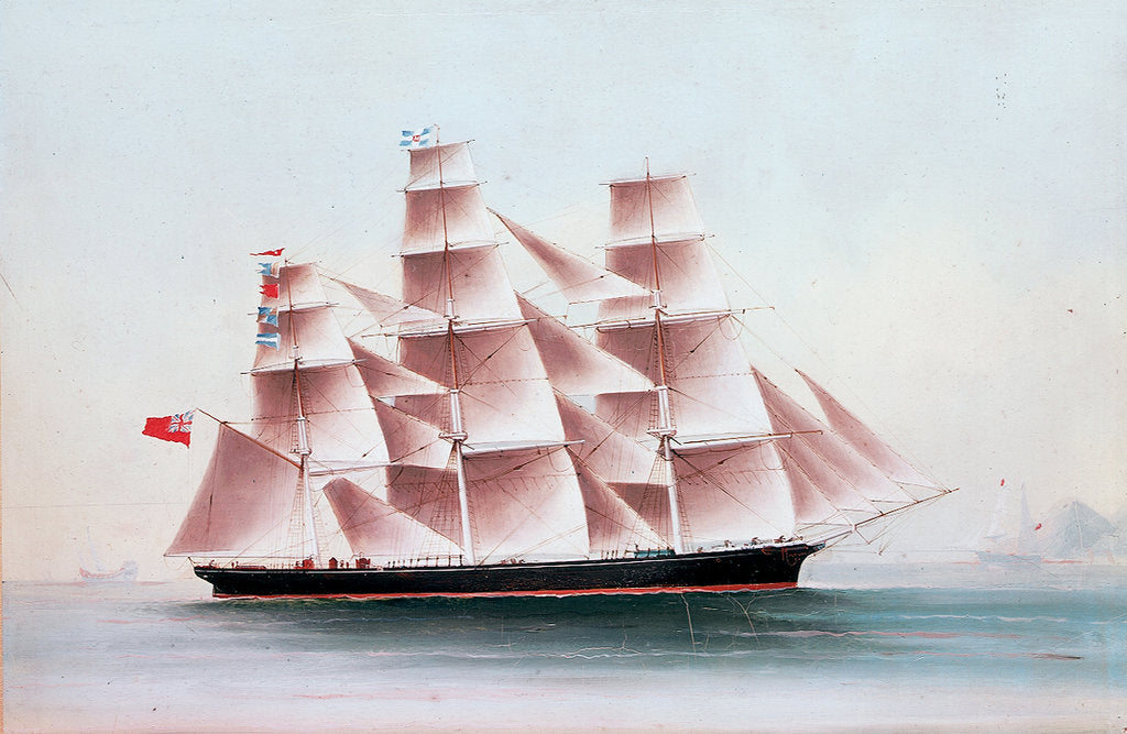 Detail of The 'Fontenaye' in the China seas by Chinese School