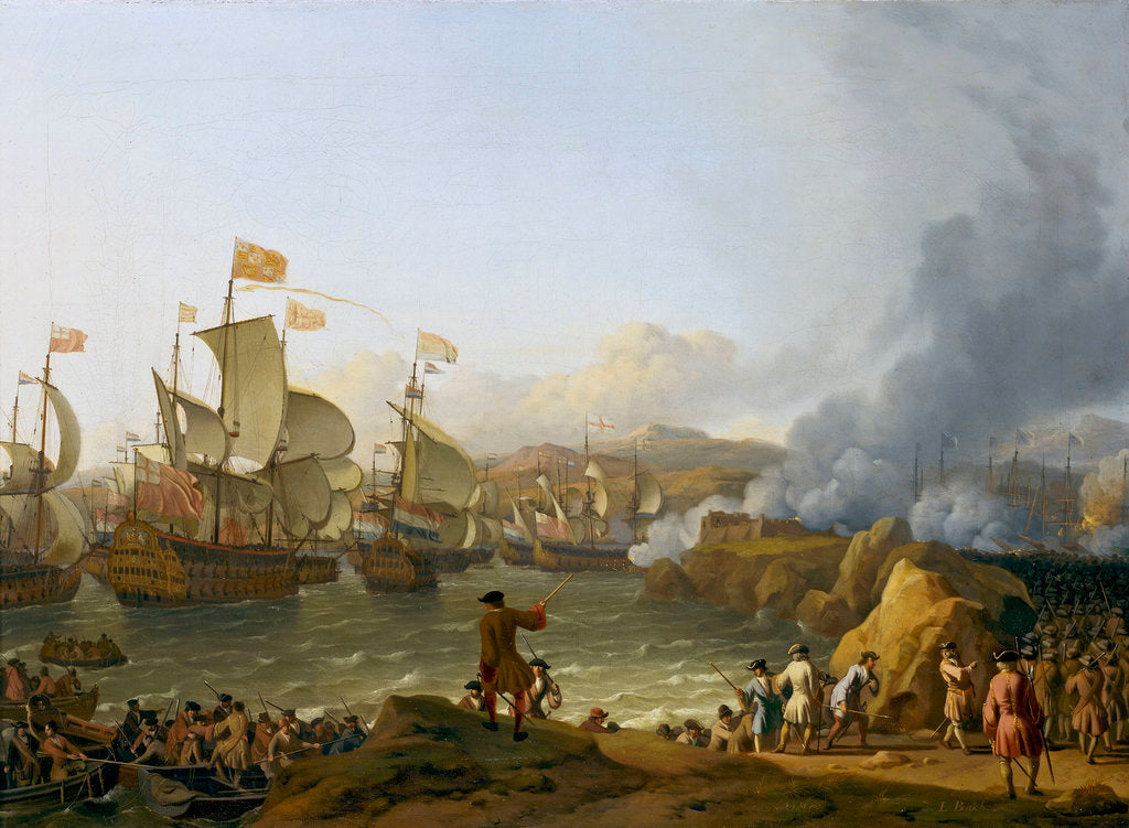 Detail of The Battle of Vigo Bay, 12 October 1702 by Ludolf Bakhuizen