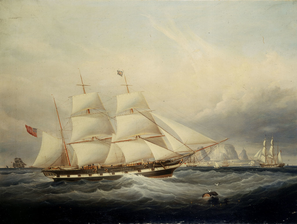 Detail of The barque 'Koh-i-noor' (1852) by John Scott