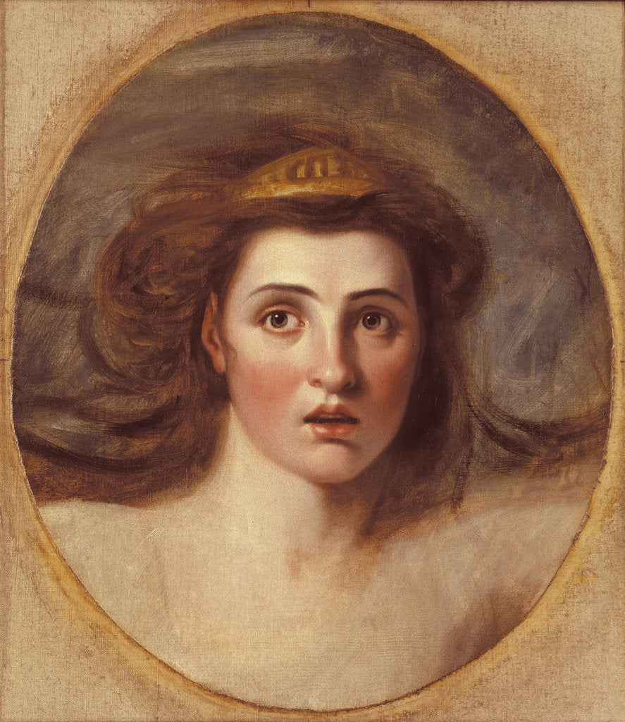 Detail of Lady Emma Hamilton as Cassandra, (1765-1815) by after George Romney