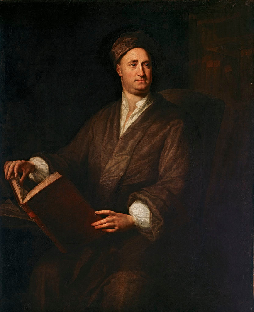 Detail of The Reverend Nicholas Tindal by George Knapton