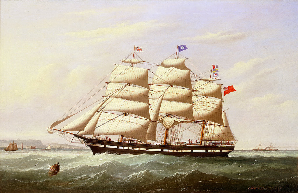 Detail of The barque 'William Yeo' by Joseph Semple