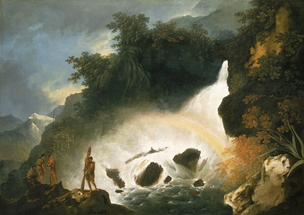 Detail of Waterfall in Dusky Bay, April 1773 by William Hodges