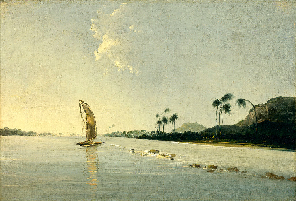 Detail of View of part of the Island of Ulietea [Raiatea] by William Hodges