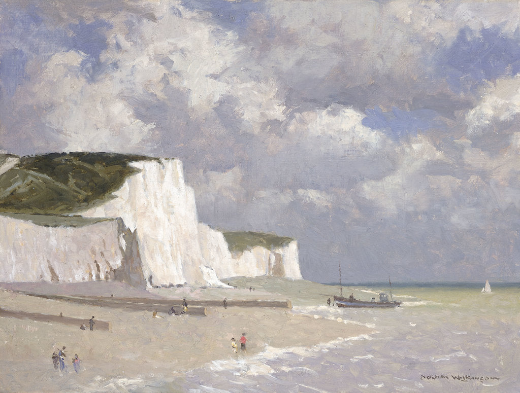 Detail of Chalk cliffs at Rottingdean by Norman Wilkinson