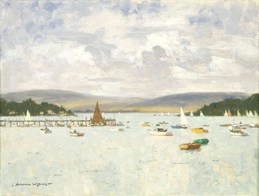 Detail of Poole harbour, Dorset by Norman Wilkinson