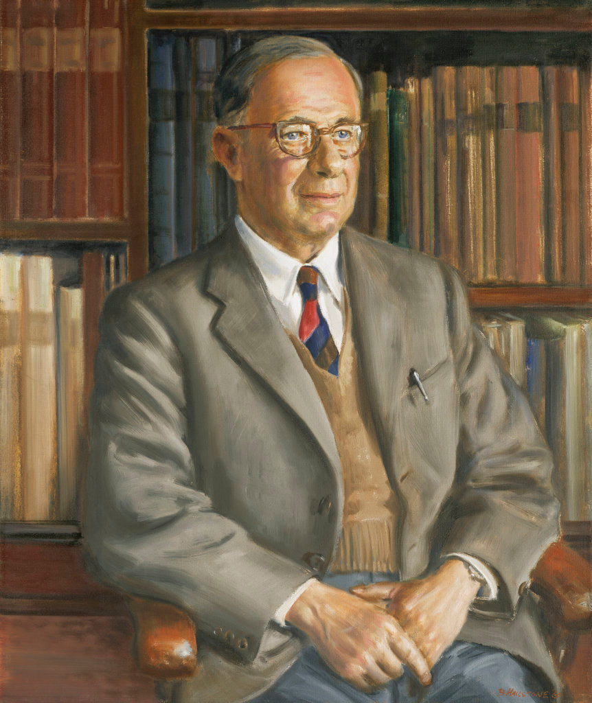Detail of Dr Roger Charles Anderson (1883-1976), naval historian by Bernard Hailstone