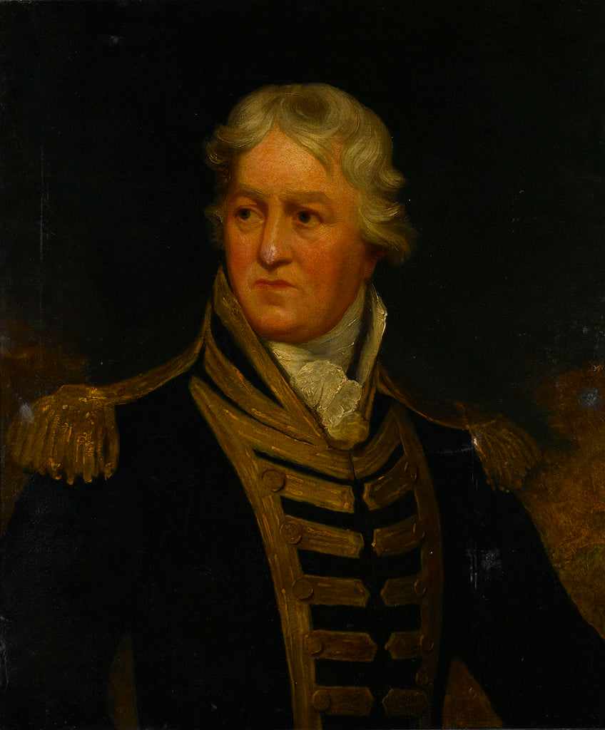 Detail of Admiral Charles Middleton, later Lord Barham (1726-1813) by Isaac Pocock