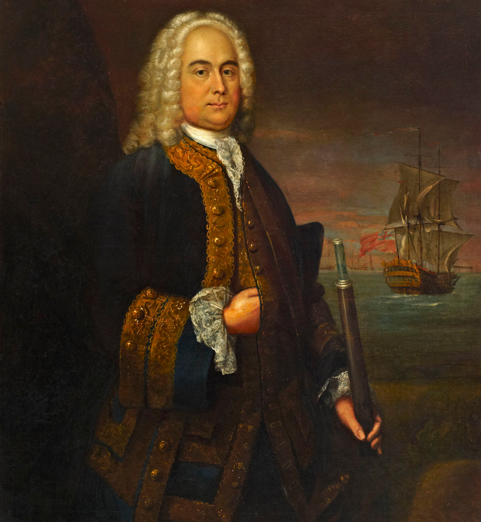 Detail of Commodore Curtis Barnett (1696-1746) by John Ellys