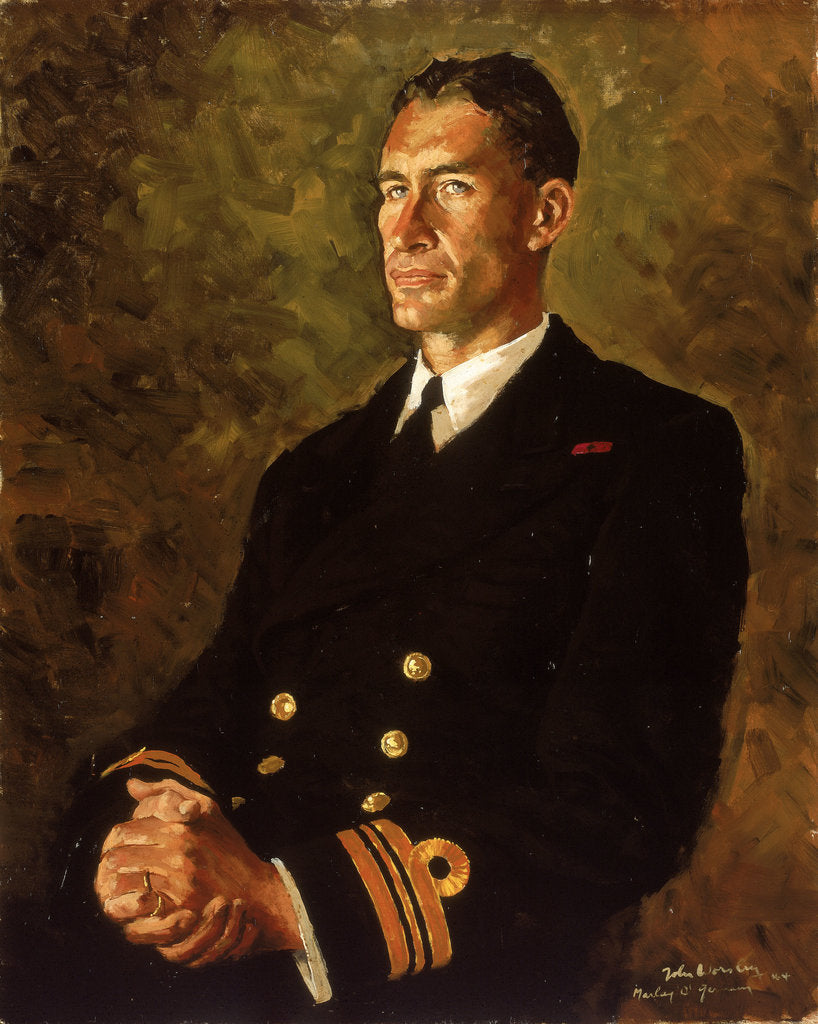 Detail of Lieutenant Commander Stephen Halden Beattie (1908-1975) by John Worsley