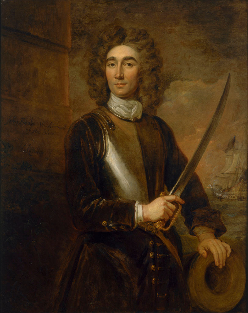 Detail of Vice-Admiral John Benbow (1653-1702) by Godfrey Kneller