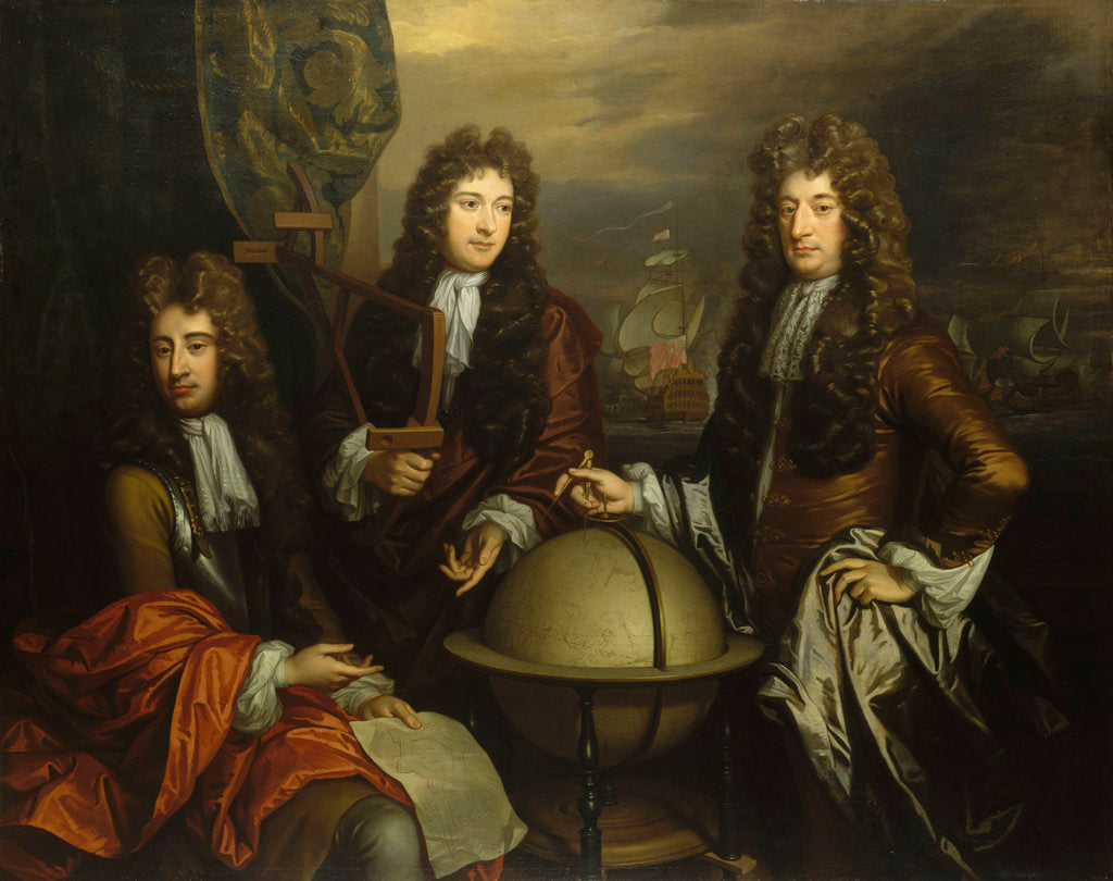 Detail of John Benbow (1653-1702), Sir Ralph Delavalle (circa 1645-1707) and Thomas Phillips (circa 1635-1693) by Thomas Murray