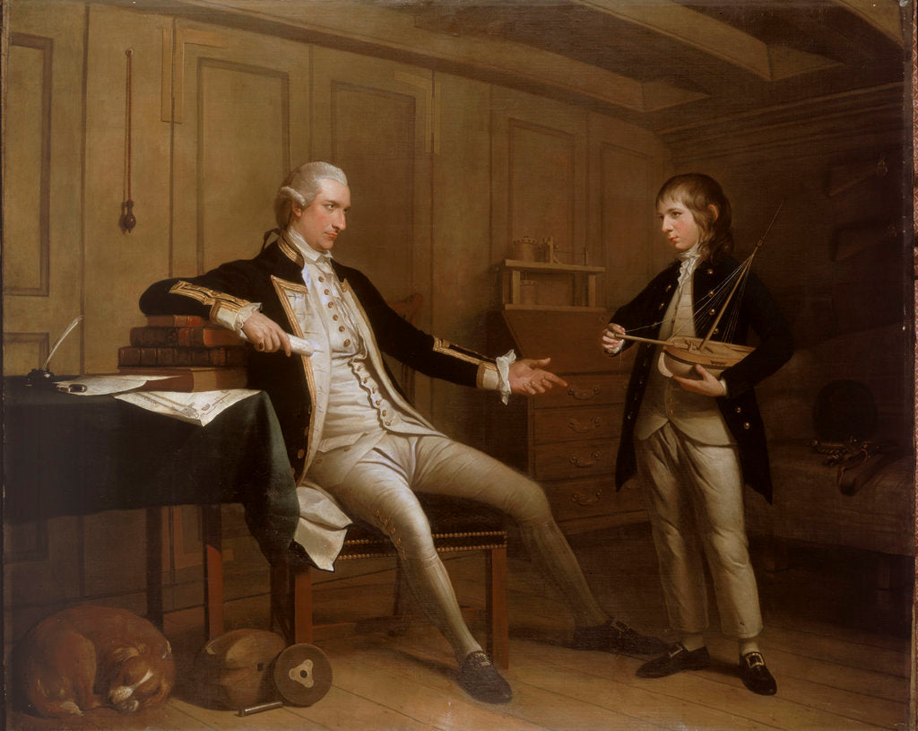 Detail of Captain John Bentinck, 1737-1775, and his son, William Bentinck, 1764-1813 by Mason Chamberlin