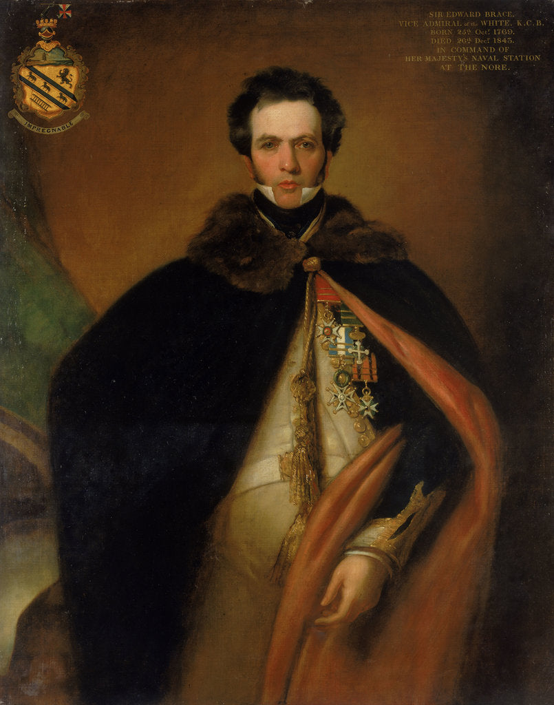 Detail of Captain Sir Edward Brace (circa 1769-1843) by Thomas Stewardson