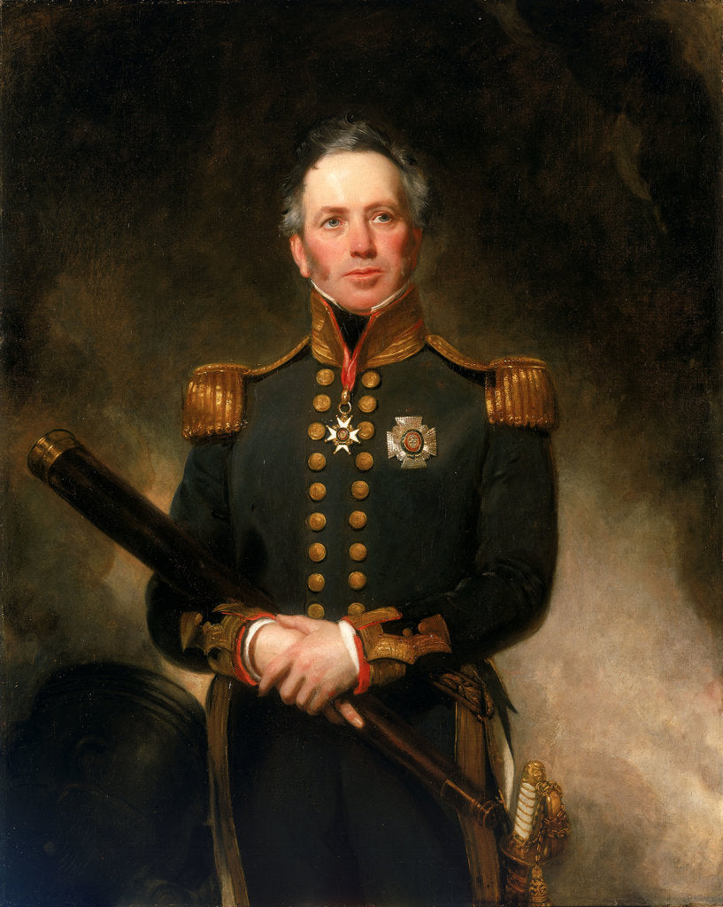 Detail of Rear-Admiral Sir Edward Brace (circa 1769-1843) by Henry William Pickersgill