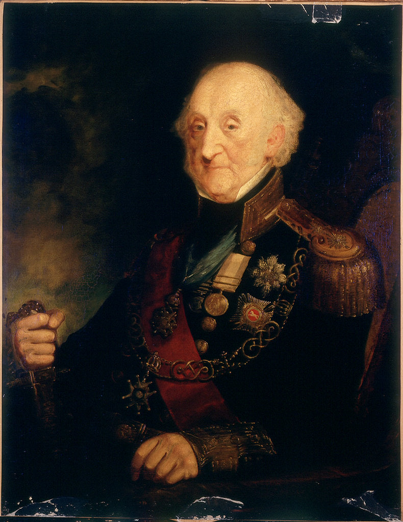 Detail of Vice-Admiral Sir Charles Bullen (1769-1853) by A. Grant