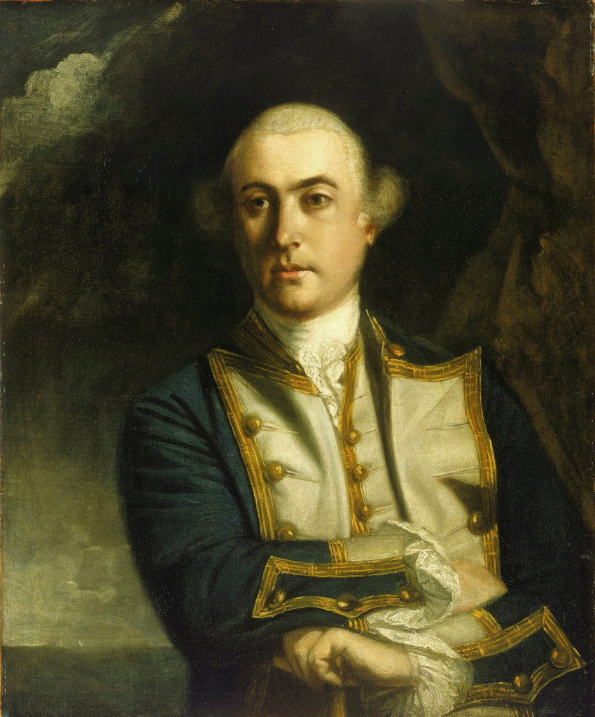 Detail of Captain The Honourable John Byron (1723-1786) by Joshua Reynolds