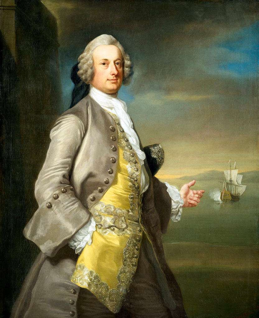 Captain Richard Chadwick (d.1748) by Thomas Hudson
