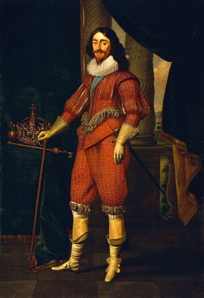 Detail of Charles I (1600-1649) by Daniel Mytens the Elder