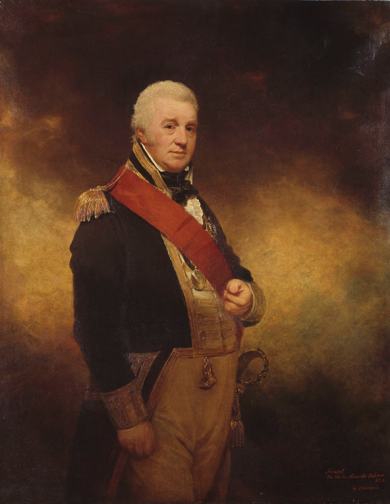 Detail of Admiral the Honourable Sir Alexander Cochrane (1758-1832) by William Beechey
