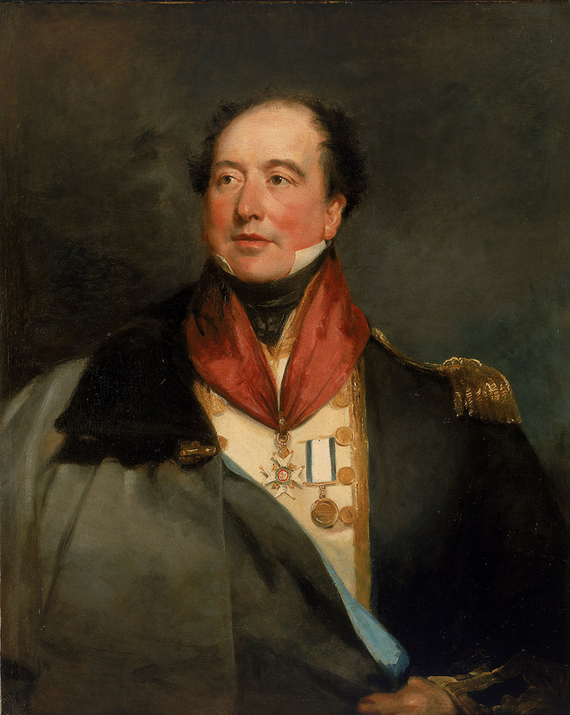Detail of Captain Sir Christopher Cole (1770-1836) by Margaret Sarah Carpenter