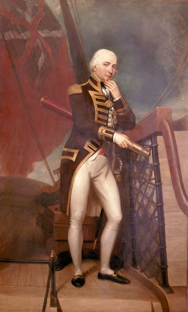 Detail of Rear-Admiral Cuthbert Collingwood (1748-1810) by Henry Howard