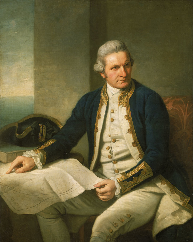 Detail of Captain James Cook (1728-1779) by Nathaniel Dance