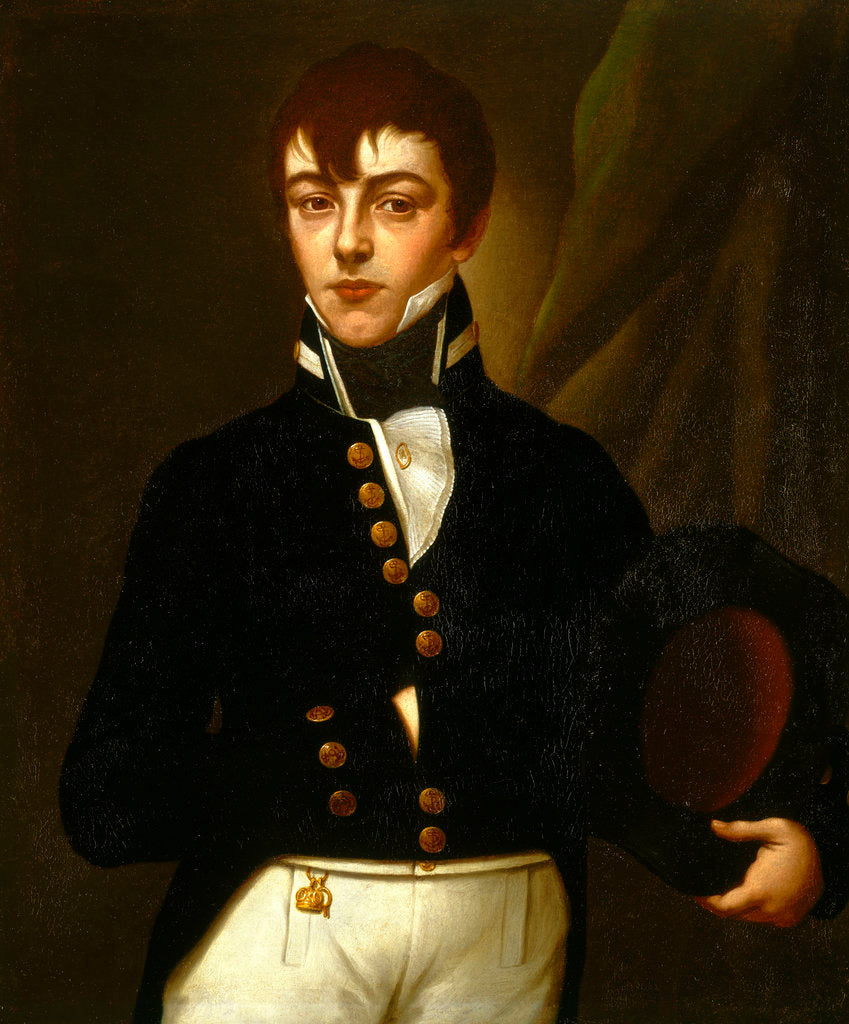 Detail of Midshipman Robert Deans (1790-1867) by British School