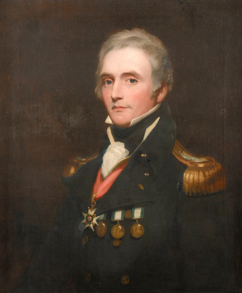 Detail of Captain Edward Berry (1768-1831) by Thomas Phillips
