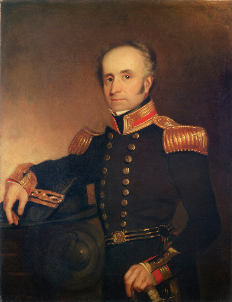 Detail of Captain Thomas Dickinson (1786-1854) by Henry William Pickersgill