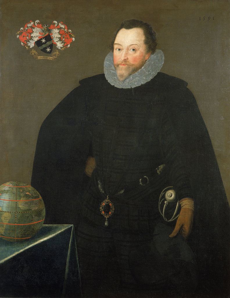 Detail of Sir Francis Drake (1540-1596) by Marcus Gheeraerts the Younger