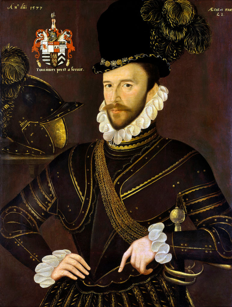 Detail of Richard Drake (1535-1603) by George Gower