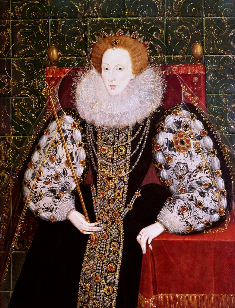 Detail of Elizabeth I (1533-1603) by British School