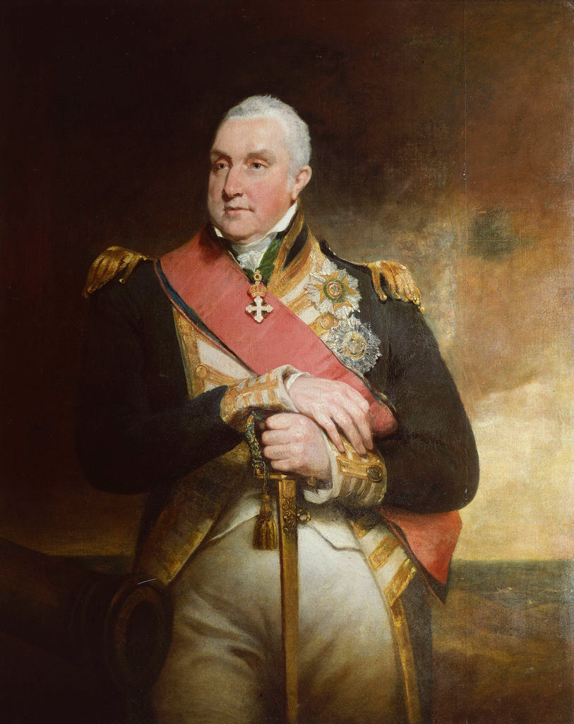 Detail of Admiral Edward Pellew, 1st Viscount Exmouth (1757-1833) by William Owen