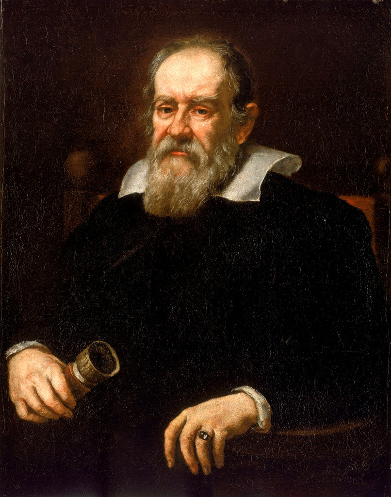Detail of Galileo Galilei (1564-1642) by Justus Sustermans