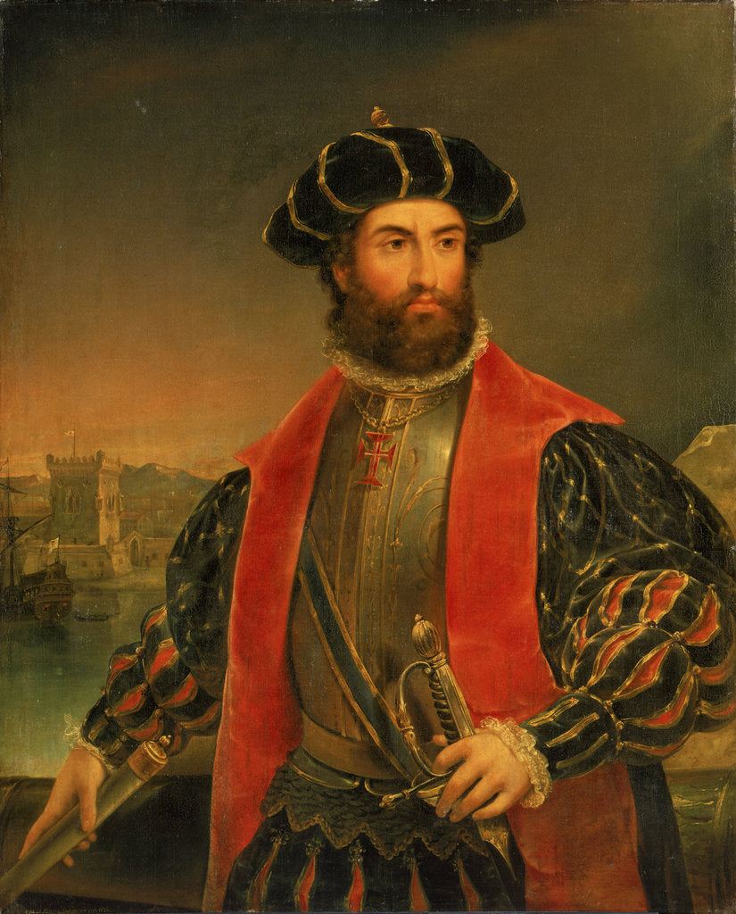 Detail of Vasco da Gama (circa 1460-1524) by Antonio Manuel da Fonseca