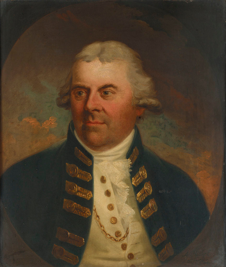 Detail of Vice-Admiral Lord Alan Gardner (1742-1809) by Karl Anton Hickel