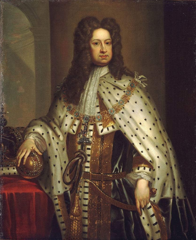 Detail of George I (1660-1727) by Godfrey Kneller