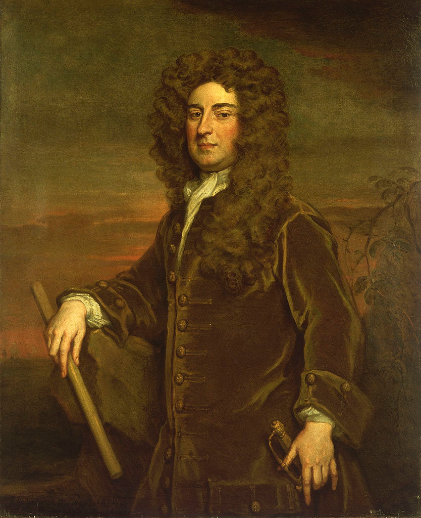 Detail of Vice-Admiral John Graydon (circa 1666-1726) by Godfrey Kneller